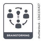 brainstorming icon vector on... | Shutterstock .eps vector #1261131427
