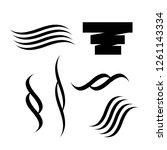 lettering underlines.... | Shutterstock .eps vector #1261143334