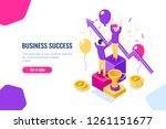 business success winner reward... | Shutterstock .eps vector #1261151677