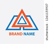 simple logo design is a... | Shutterstock .eps vector #1261155937