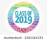 class of 2019 word cloud... | Shutterstock .eps vector #1261161151