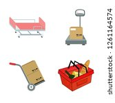 vector design of basket and... | Shutterstock .eps vector #1261164574