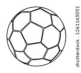 soccer ball icon | Shutterstock .eps vector #1261165051