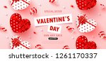 valentine's day sale background.... | Shutterstock .eps vector #1261170337
