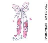 love ballet typography...   Shutterstock .eps vector #1261179067