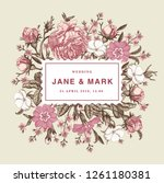 wedding invitation. beautiful... | Shutterstock .eps vector #1261180381
