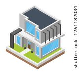 town hall isometric icon | Shutterstock .eps vector #1261182034
