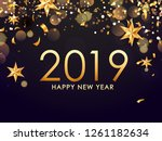 happy new year 2019 greeting... | Shutterstock .eps vector #1261182634