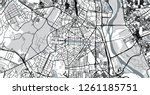 urban vector city map of new... | Shutterstock .eps vector #1261185751