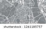 urban vector city map of new...   Shutterstock .eps vector #1261185757