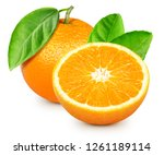 Orange fruits isolated on white ...