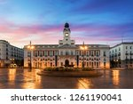 puerta del sol square is the... | Shutterstock . vector #1261190041