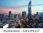 bangkok transportation at dusk...   Shutterstock . vector #1261191217
