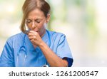 middle age senior nurse doctor... | Shutterstock . vector #1261200547