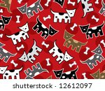 Spotted Doggies Pattern  Vecto...