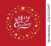 merry christmas hand drawn... | Shutterstock .eps vector #1261211047