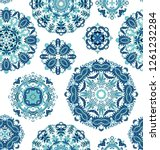 seamless decorative paisley... | Shutterstock .eps vector #1261232284