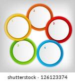 concept of colorful circular... | Shutterstock .eps vector #126123374