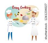 culinary concept illustration... | Shutterstock .eps vector #1261234027