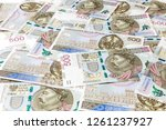 500 pln banknotes background | Shutterstock . vector #1261237927