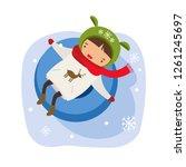 hild on the rink.  hild makes...   Shutterstock .eps vector #1261245697
