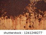 rust on dyed metal | Shutterstock . vector #1261248277