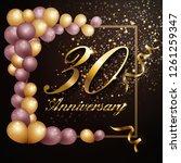 30 year anniversary celebration ... | Shutterstock .eps vector #1261259347