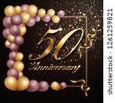 50 year anniversary celebration ... | Shutterstock .eps vector #1261259821