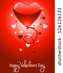 valentine's day card with... | Shutterstock .eps vector #126126131