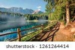 captivating summer view of... | Shutterstock . vector #1261264414