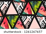 hand drawn vector abstract... | Shutterstock .eps vector #1261267657