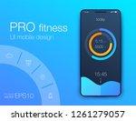 fitness app. ui ux design. ui...   Shutterstock .eps vector #1261279057