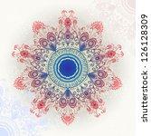 bright hand drawn circular... | Shutterstock .eps vector #126128309