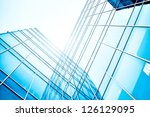glass skyscrapers at night | Shutterstock . vector #126129095