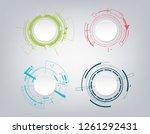 abstract technology... | Shutterstock .eps vector #1261292431