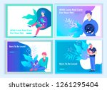 set of landing page templates... | Shutterstock .eps vector #1261295404