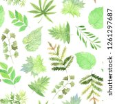 seamless pattern with... | Shutterstock . vector #1261297687