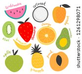 vector isolated set of... | Shutterstock .eps vector #1261298071
