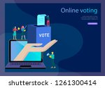 voting and election concept.... | Shutterstock .eps vector #1261300414