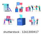 voting and election concept.... | Shutterstock .eps vector #1261300417