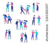vector people in bad emotions ... | Shutterstock .eps vector #1261302337