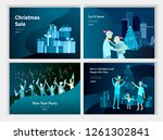 set of landing page template or ... | Shutterstock .eps vector #1261302841