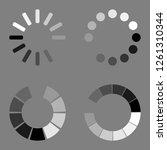 loading circle icon set. vector ... | Shutterstock .eps vector #1261310344