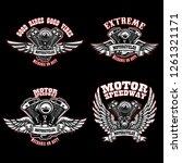 set of biker emblem templates... | Shutterstock .eps vector #1261321171