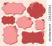 a collection of cute pink and... | Shutterstock .eps vector #126133361