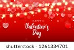 happy valentine's day... | Shutterstock .eps vector #1261334701