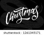 christmas lettering calligraphy ... | Shutterstock . vector #1261345171