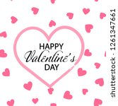 happy valentine's day greeting... | Shutterstock .eps vector #1261347661