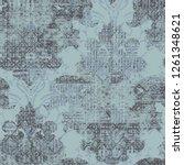 raster illustration. damask... | Shutterstock . vector #1261348621