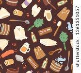 sauna vector seamless pattern... | Shutterstock .eps vector #1261351057